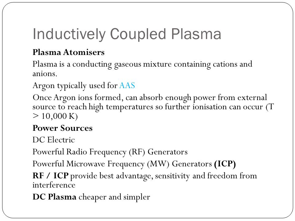 Inductively Coupled Plasma