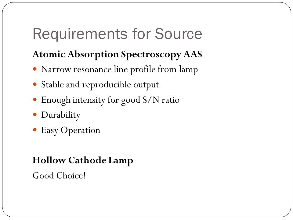 Requirements for Source