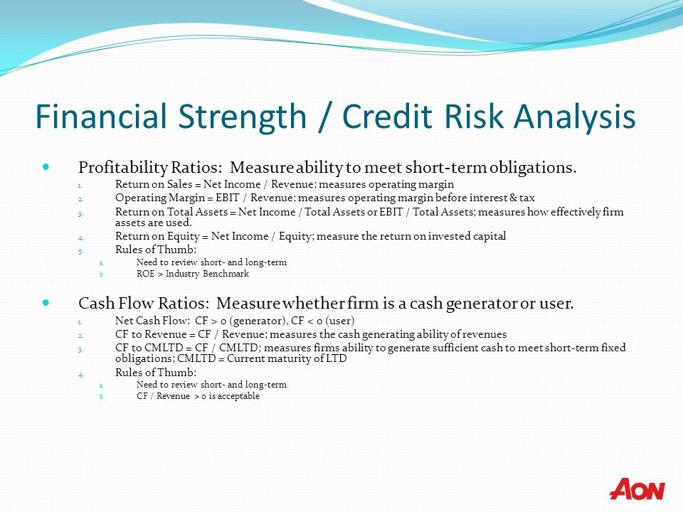 Financial Strength / Credit Risk Analysis