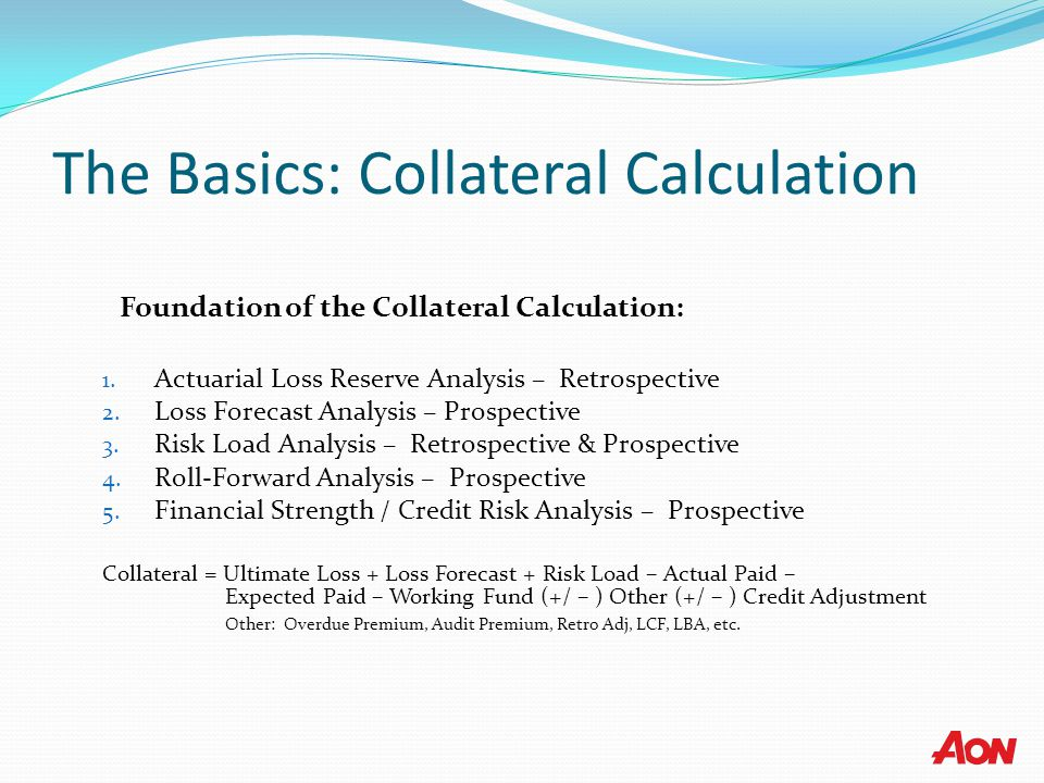 The Basics: Collateral Calculation