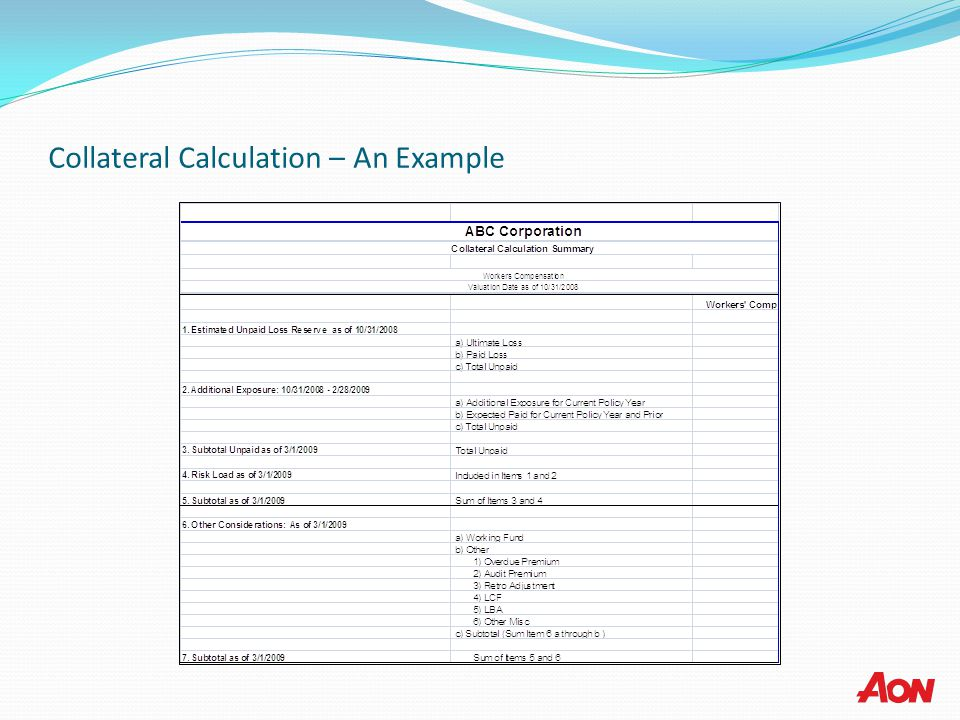 Collateral Calculation – An Example