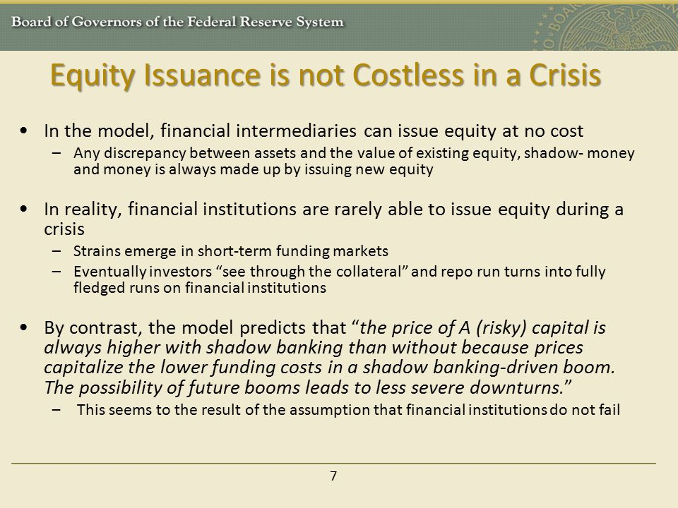 Equity Issuance is not Costless in a Crisis