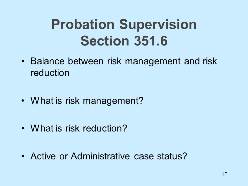 Probation Supervision Section 351.6