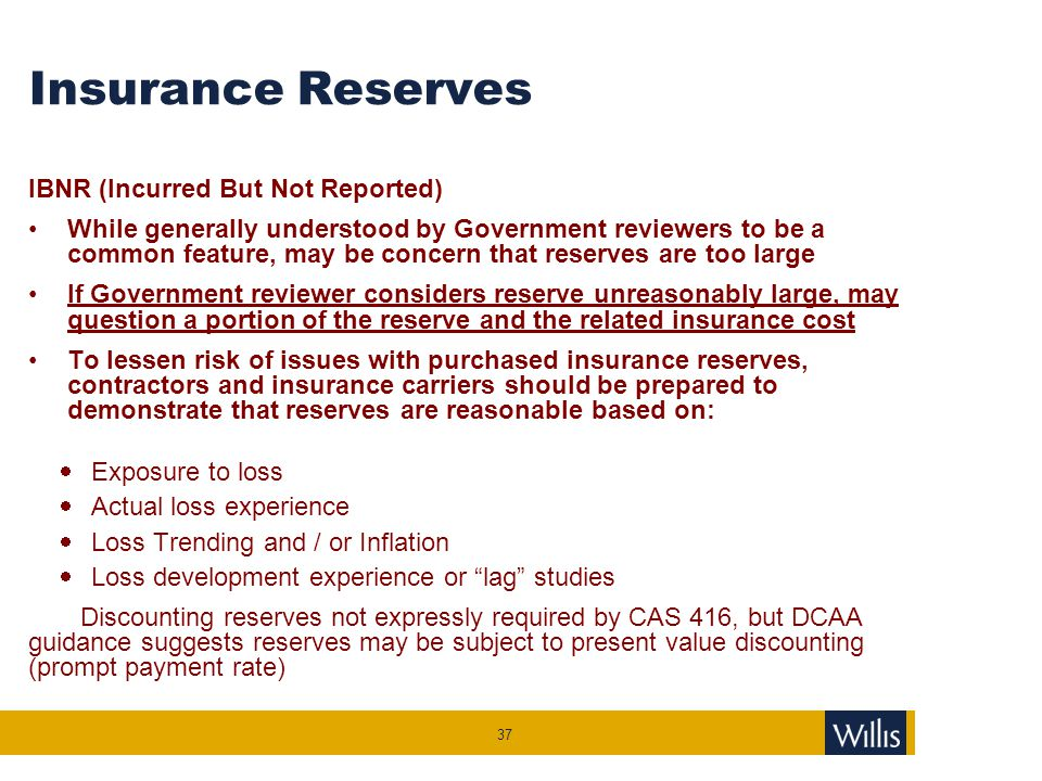 Measurement of Self-insurance Charges and Reserves