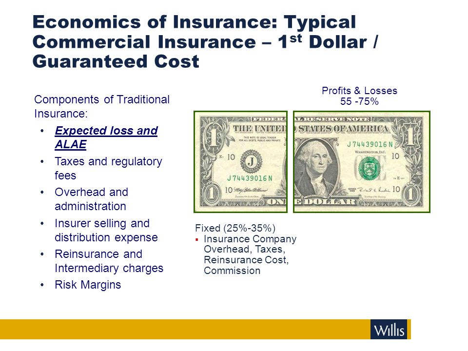 Insurance Program Risk Costs with Large Deductibles / Retentions