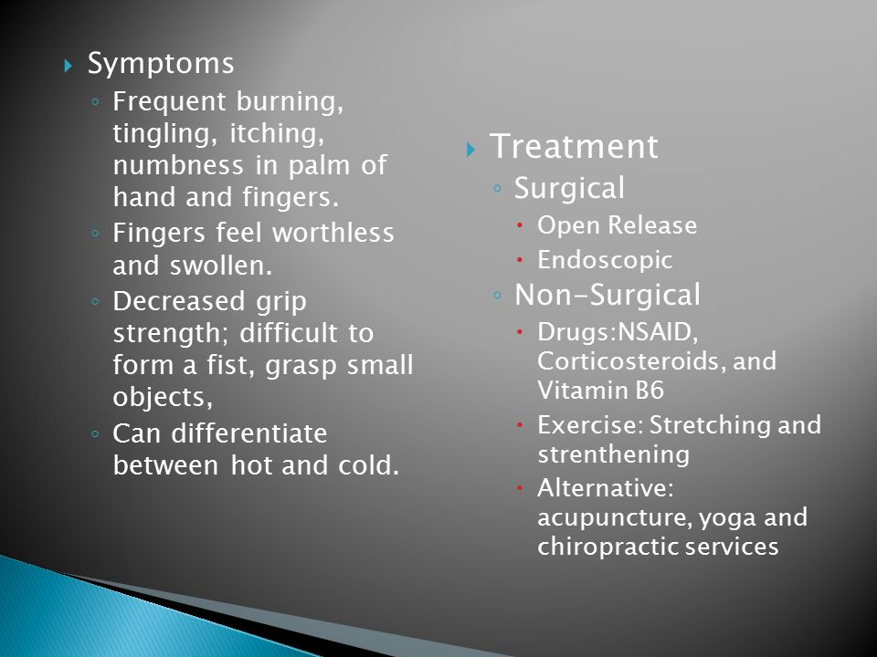 Treatment Symptoms Surgical Non-Surgical