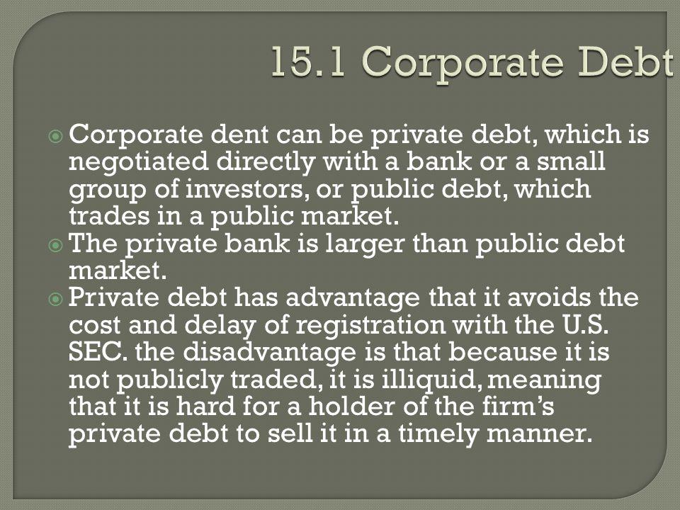 15.1 Corporate Debt