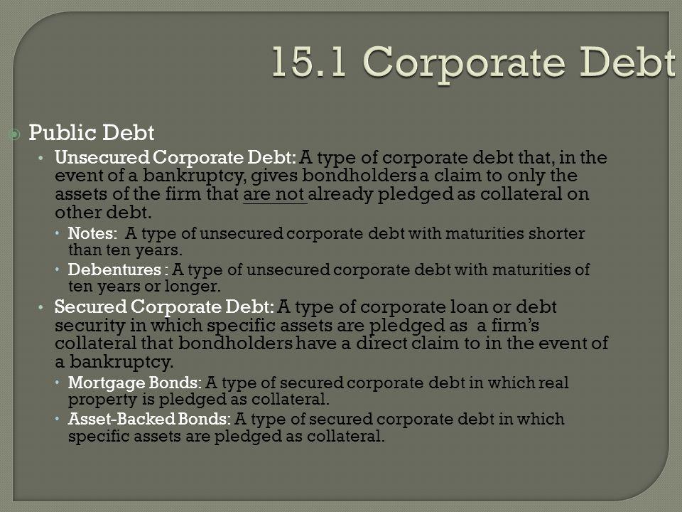 15.1 Corporate Debt Public Debt