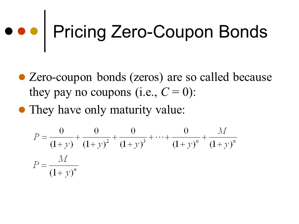 chapter 2 pricing of bonds