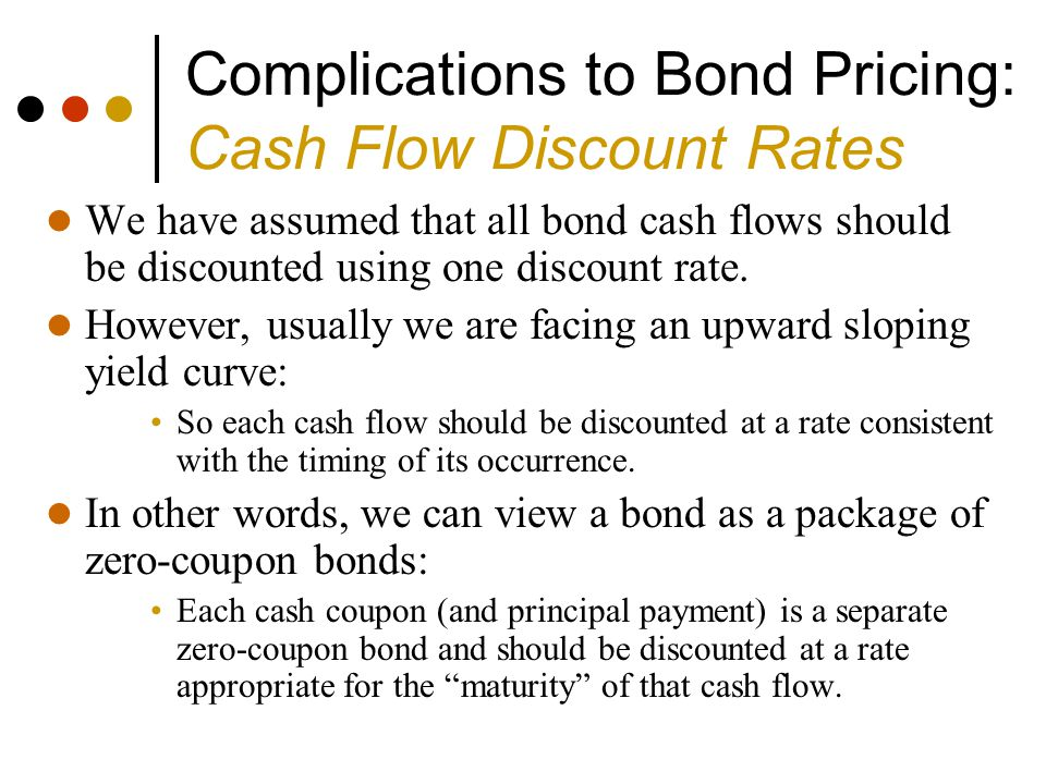 Complications to Bond Pricing: Cash Flow Discount Rates