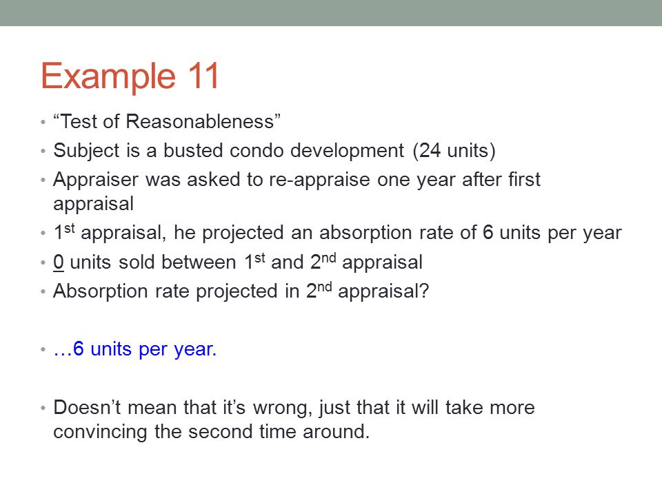 Example 11 Test of Reasonableness