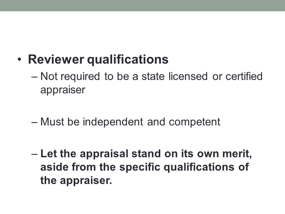 Reviewer qualifications