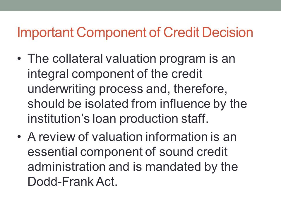 Important Component of Credit Decision