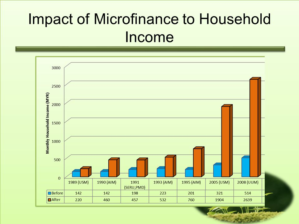 Impact of Microfinance to Household Income