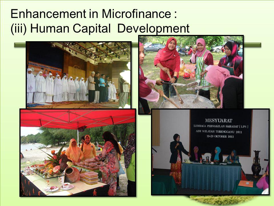 Enhancement in Microfinance : (iii) Human Capital Development