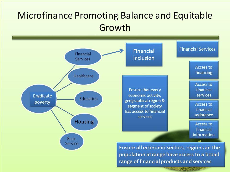 Microfinance Promoting Balance and Equitable Growth