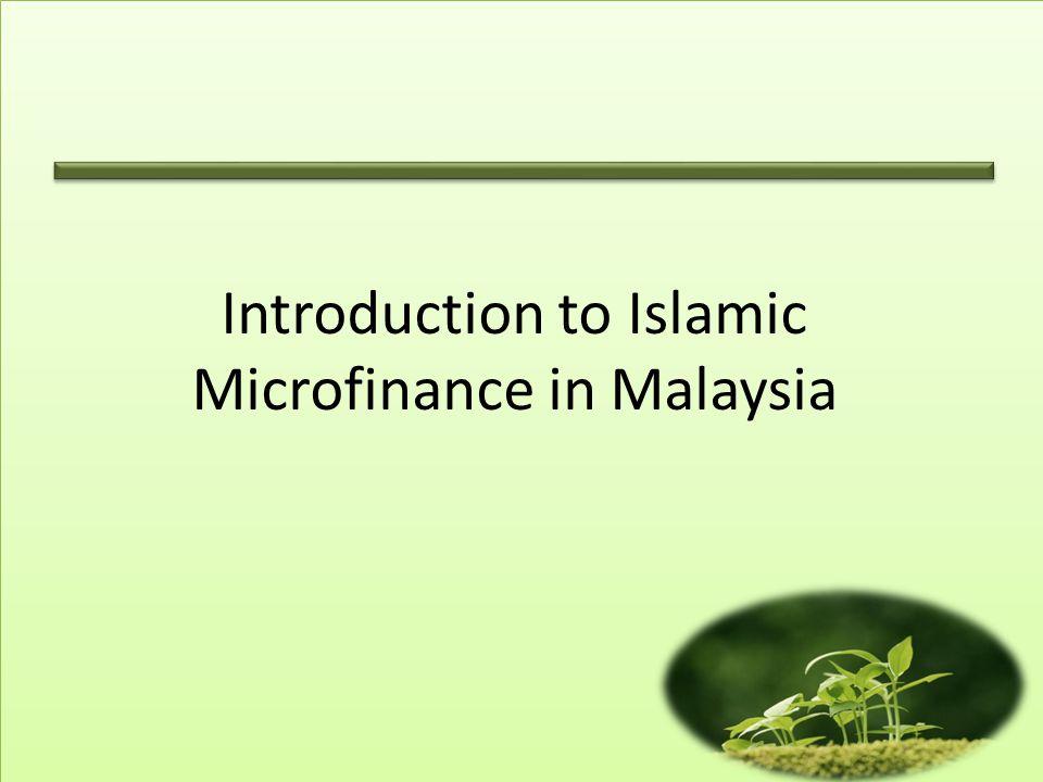 Introduction to Islamic Microfinance in Malaysia