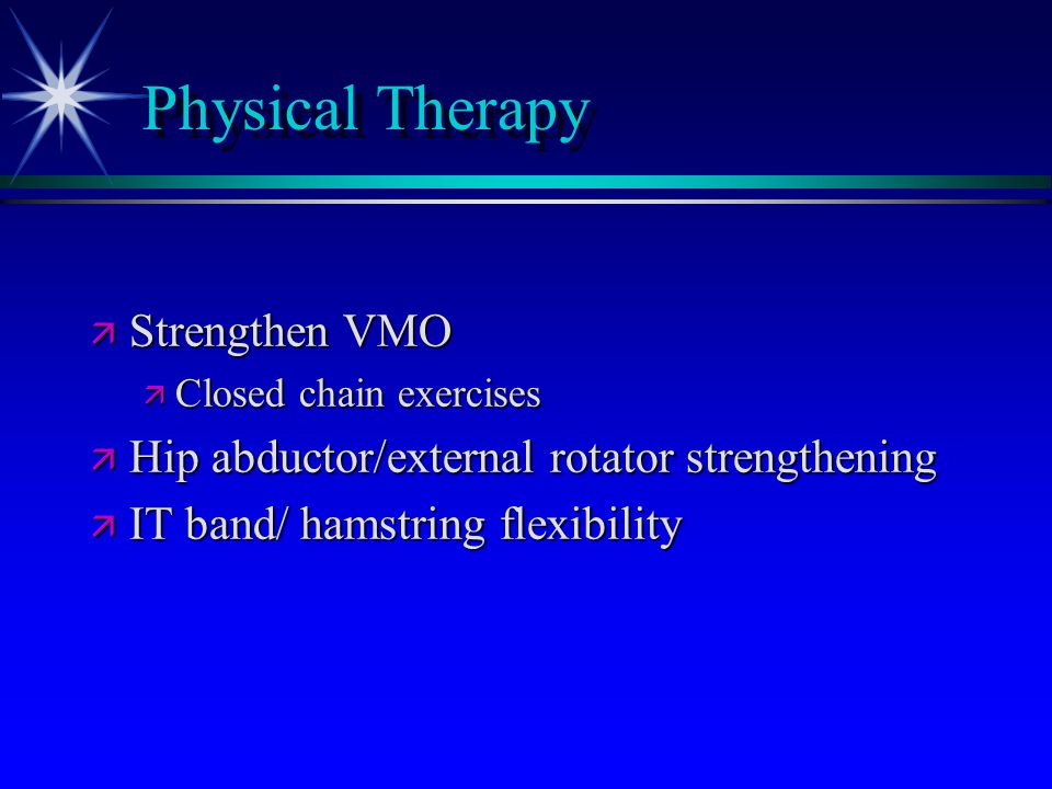 Physical Therapy Strengthen VMO