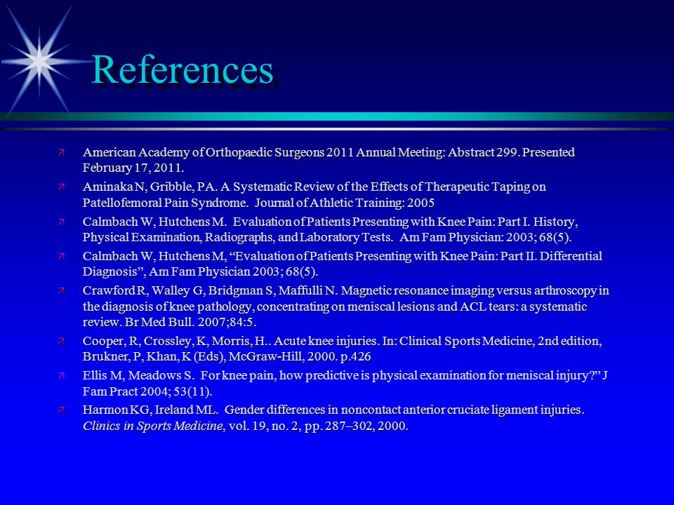 References American Academy of Orthopaedic Surgeons 2011 Annual Meeting: Abstract 299. Presented February 17, 2011.