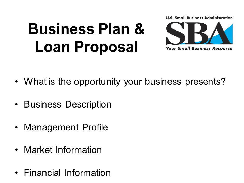 Business Plan & Loan Proposal