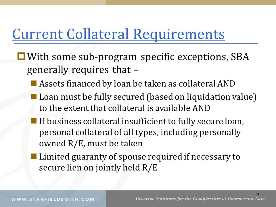 Current Collateral Requirements