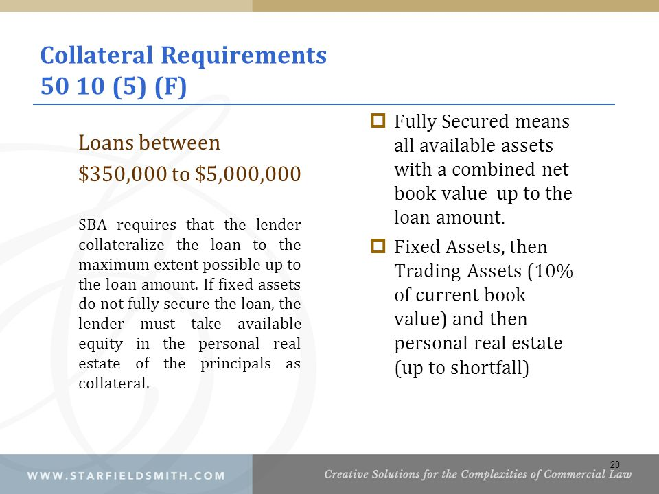 Collateral Requirements 50 10 (5) (F)