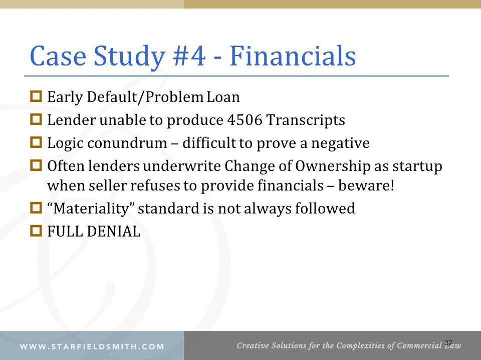 Case Study #4 - Financials