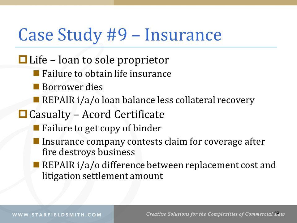 Case Study #9 – Insurance