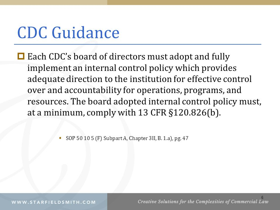 CDC Guidance