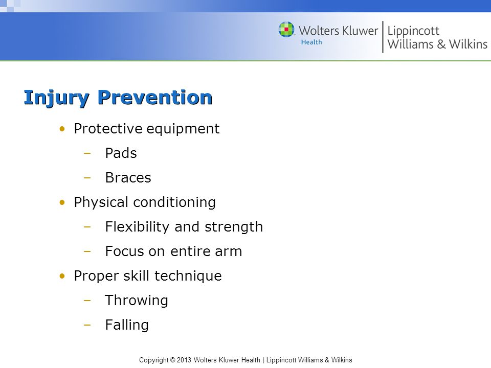 Injury Prevention Protective equipment Pads Braces
