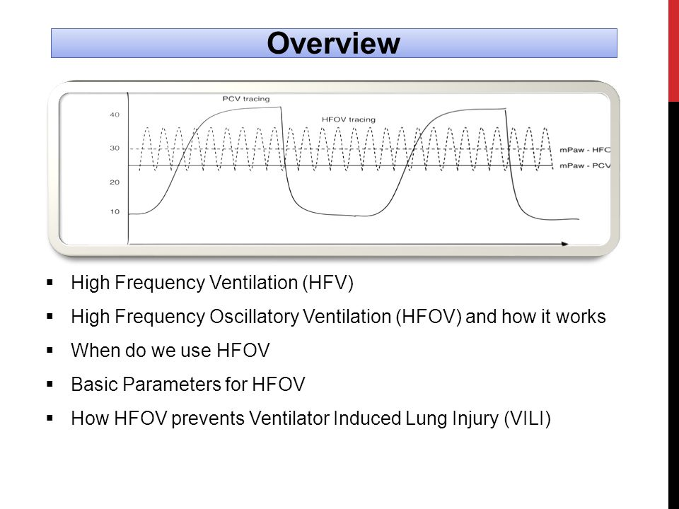 Overview High Frequency Ventilation (HFV)