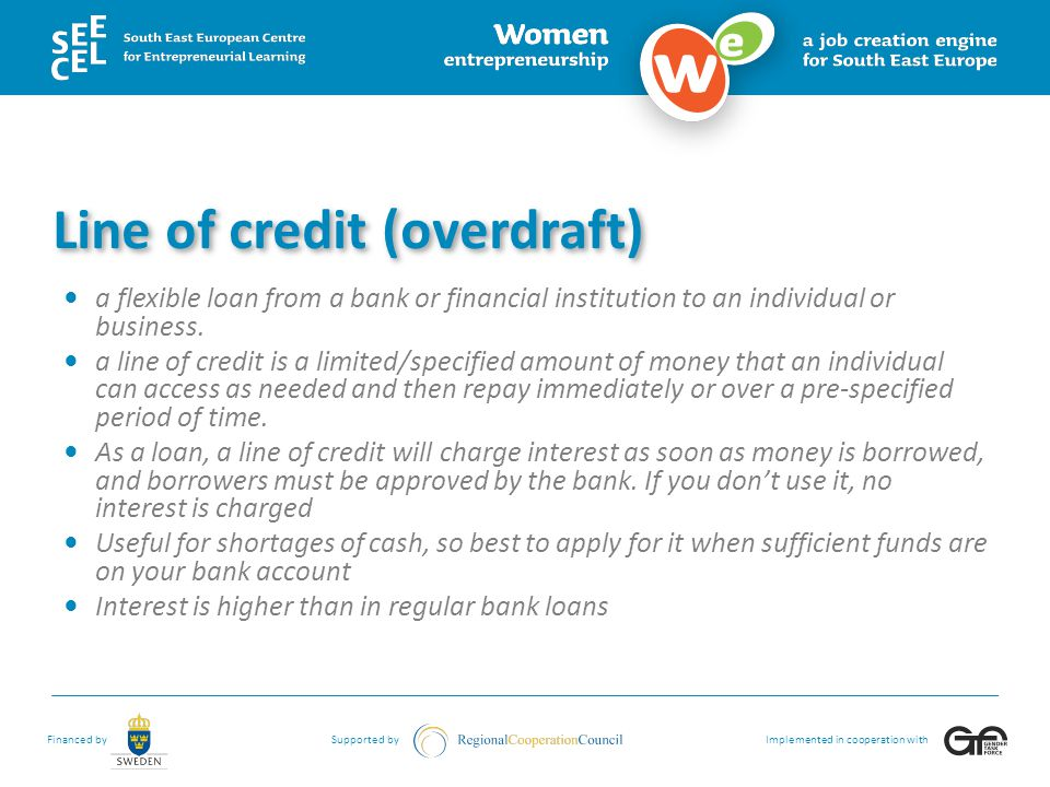 Line of credit (overdraft)