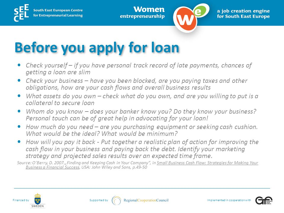 Before you apply for loan