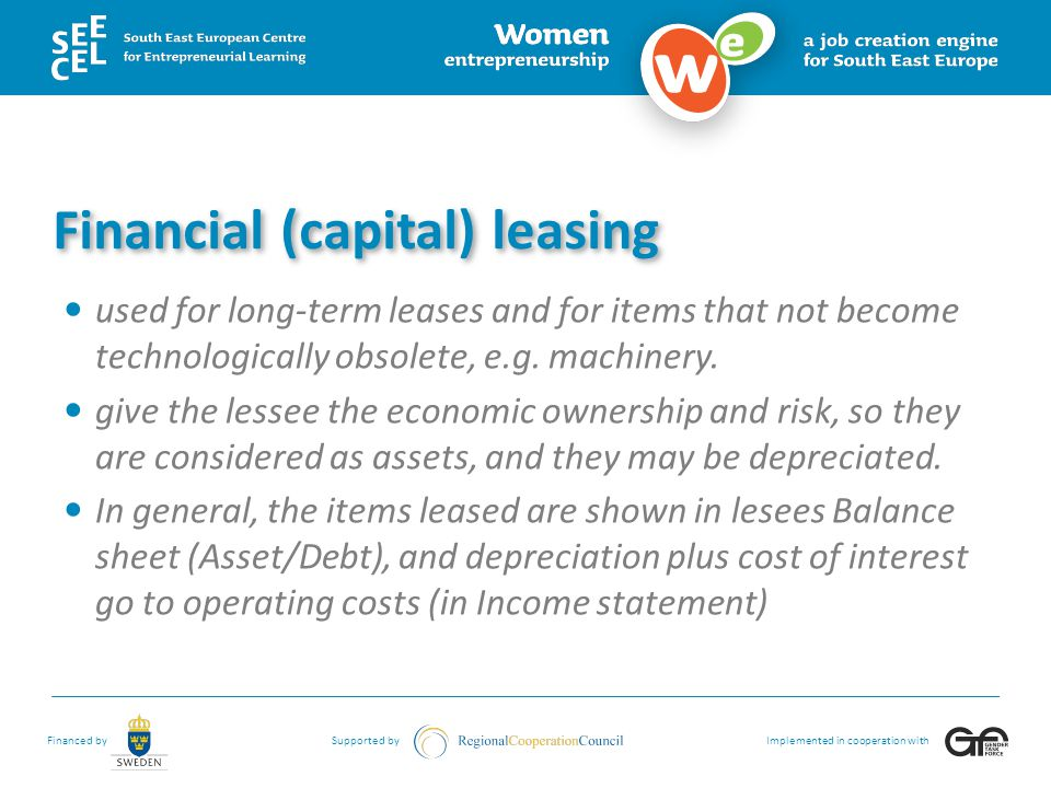 Financial (capital) leasing