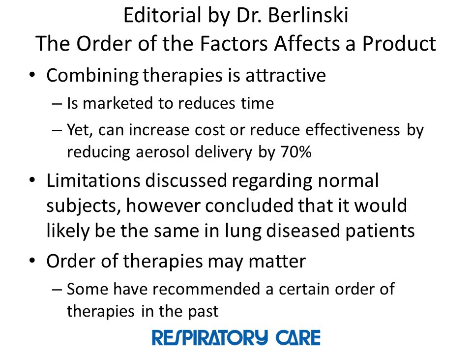 Editorial by Dr. Berlinski The Order of the Factors Affects a Product