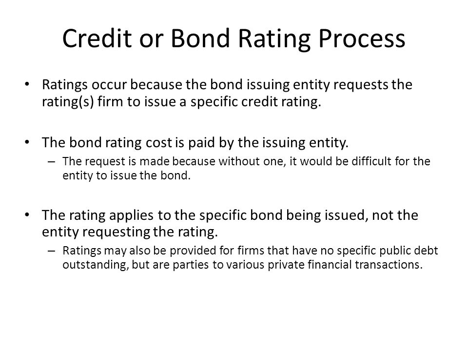 Credit or Bond Rating Process
