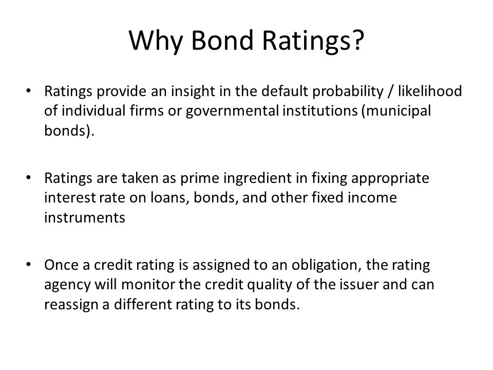 Why Bond Ratings
