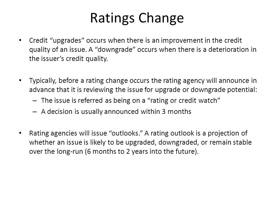 Ratings Change