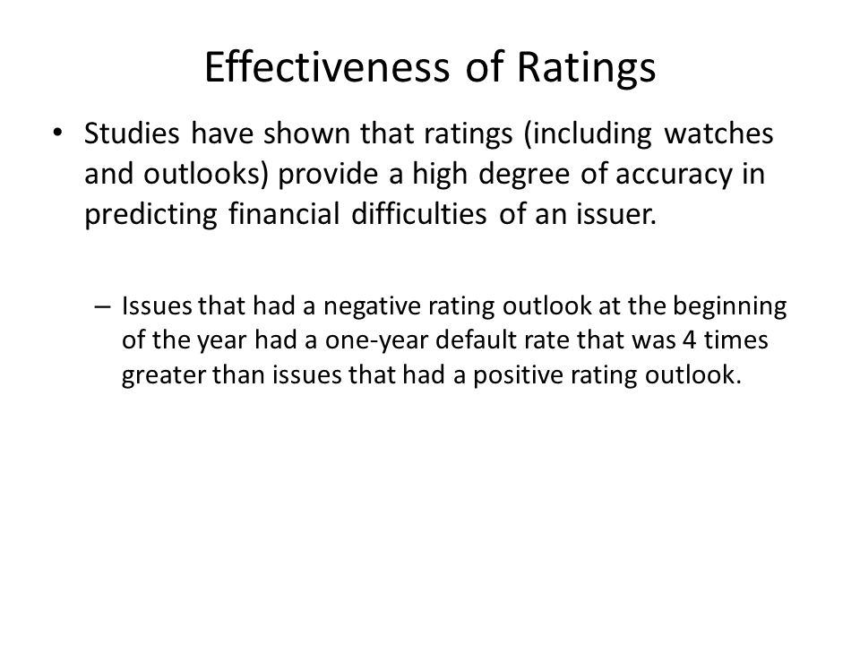 Effectiveness of Ratings