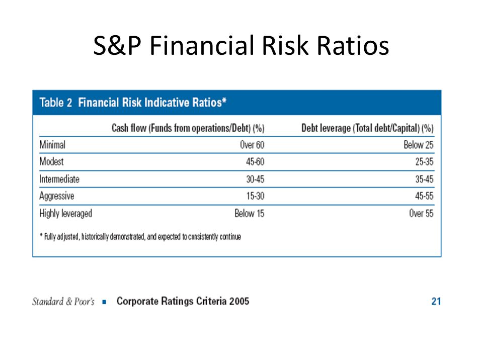 S&P Financial Risk Ratios