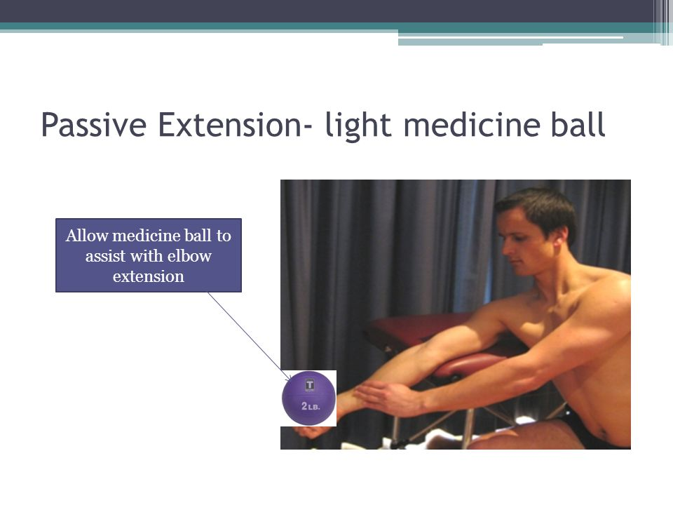 Passive Extension- light medicine ball