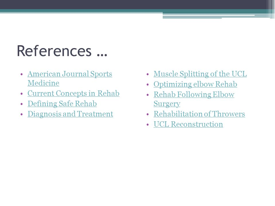References … American Journal Sports Medicine