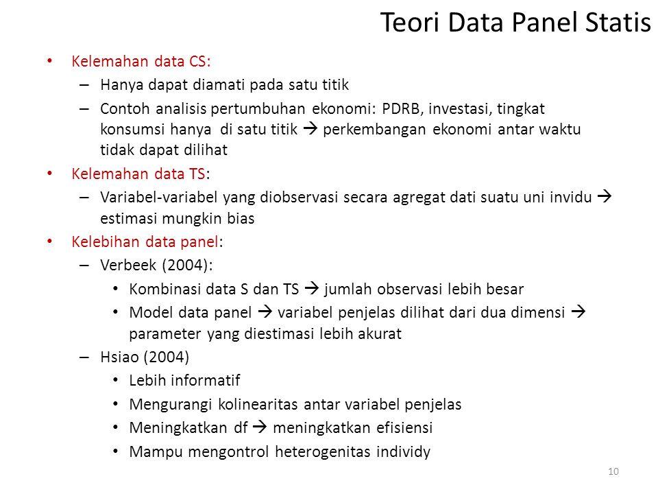 Teori Data Panel Statis