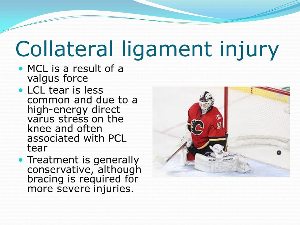 Collateral ligament injury