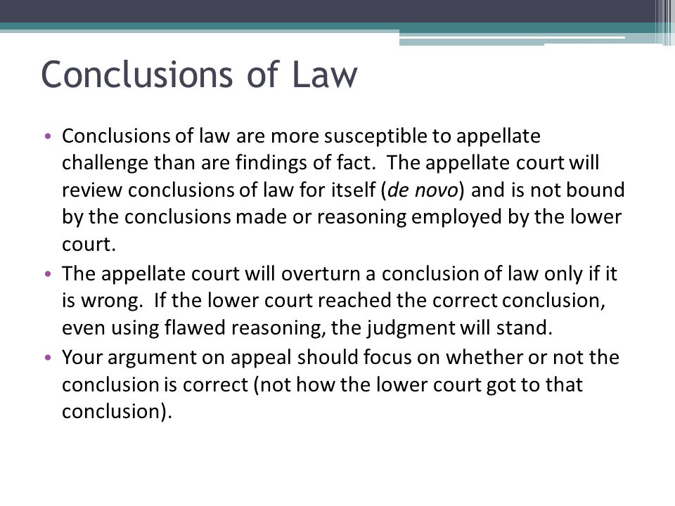 Conclusions of Law