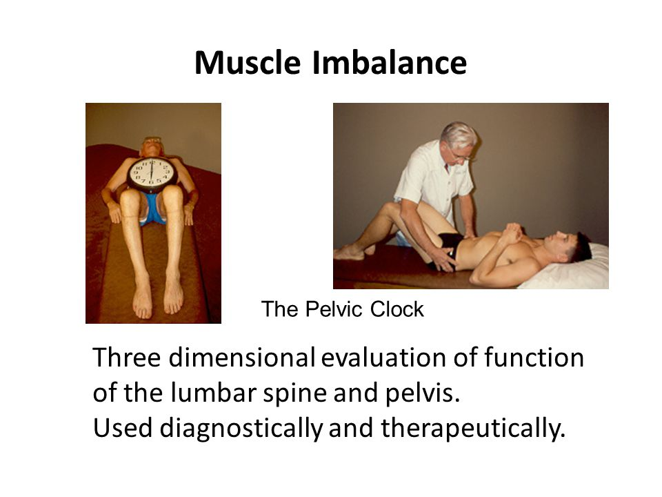 Muscle Imbalance The Pelvic Clock. Three dimensional evaluation of function of the lumbar spine and pelvis.