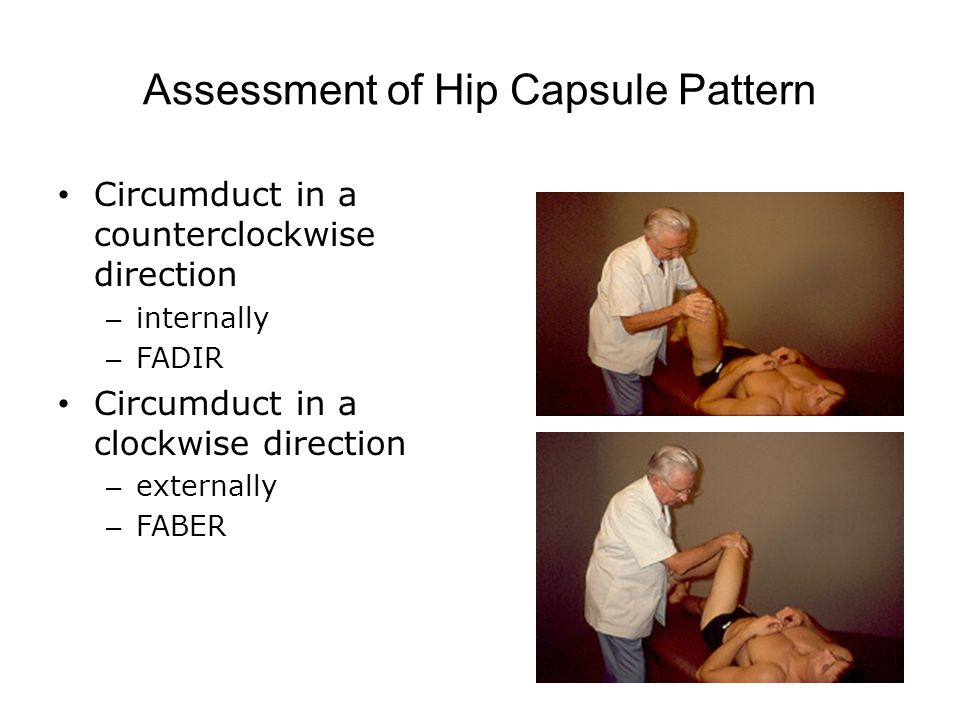 Assessment of Hip Capsule Pattern