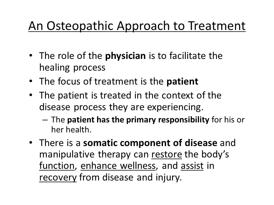 An Osteopathic Approach to Treatment