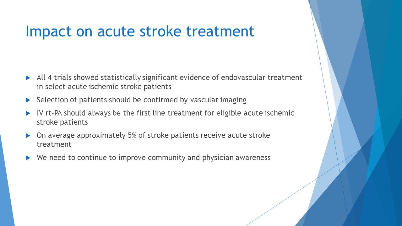 Impact on acute stroke treatment