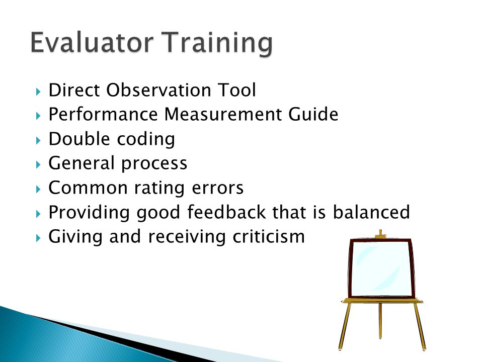 Evaluator Training Direct Observation Tool